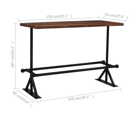 vidaXL Baro baldų komplektas, 7d., masyvi perdirbta mediena[18/21]