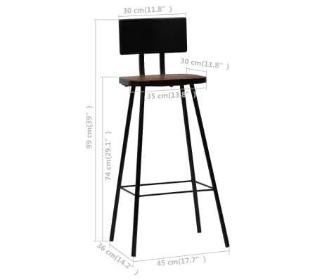 vidaXL Baro baldų komplektas, 7d., masyvi perdirbta mediena[19/21]