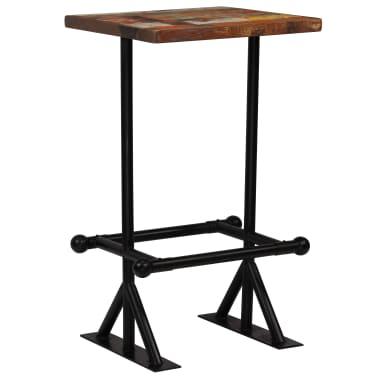 vidaXL Barska garnitura 3-delna iz trdnega predelanega lesa večbarvna[2/22]