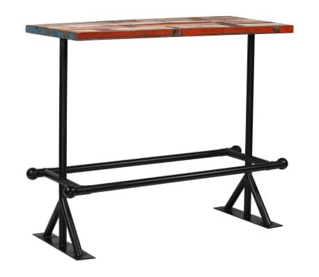 vidaXL Baro baldų komplektas, 5d., perdirbta mediena, įvairiaspalvis[17/21]
