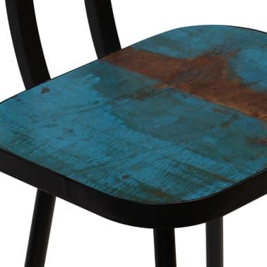 vidaXL Baro baldų komplektas, 5d., perdirbta mediena, įvairiaspalvis[12/21]