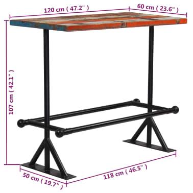vidaXL Baro baldų komplektas, 5d., perdirbta mediena, įvairiaspalvis[18/21]