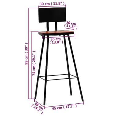 vidaXL Baro baldų komplektas, 5d., perdirbta mediena, įvairiaspalvis[19/21]