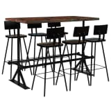 vidaXL Bar Set 7 Piece Solid Reclaimed Wood Multicolour