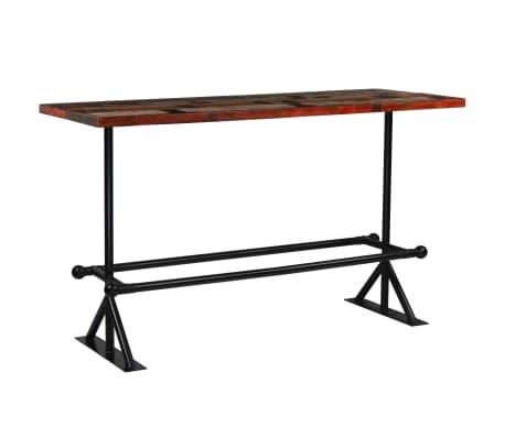 vidaXL Baro baldų komplektas, 9d., perdirbta mediena, įvairių spalvų[2/21]