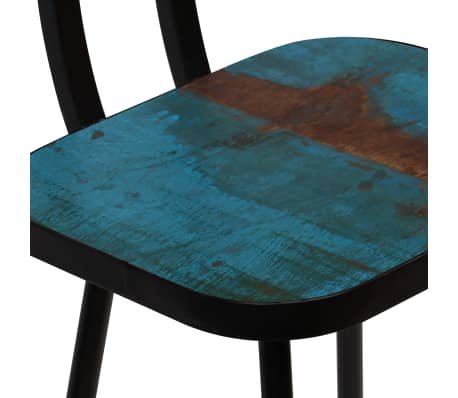 vidaXL Baro baldų komplektas, 9d., perdirbta mediena, įvairių spalvų[12/21]