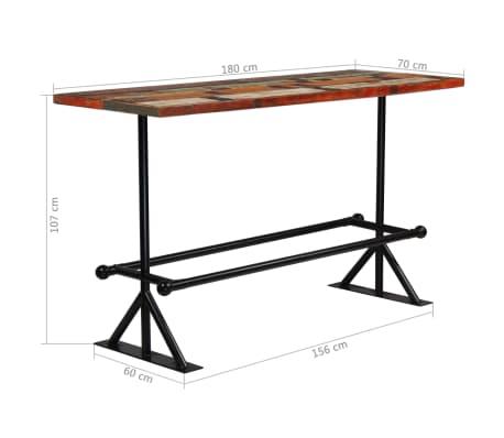 vidaXL Baro baldų komplektas, 9d., perdirbta mediena, įvairių spalvų[16/21]