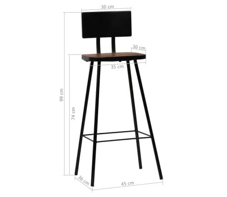 vidaXL Baro baldų komplektas, 9d., perdirbta mediena, įvairių spalvų[17/21]