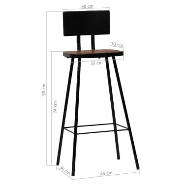 vidaXL Baro baldų komplektas, 9d., perdirbta mediena, įvairių spalvų[18/21]