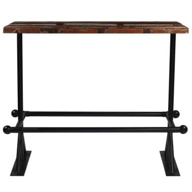 vidaXL Baro baldų komplektas, 9d., perdirbta mediena, įvairių spalvų[3/21]