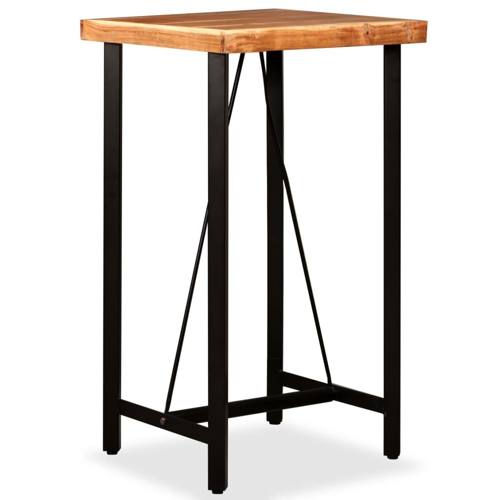 vidaXL Masă de bar, lemn masiv de acacia, 60 x 60 x 107 cm imagine vidaxl.ro