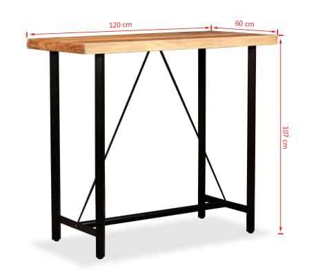 """vidaXL Bar Table Solid Sheesham Wood 47.2""""x23.6""""x42.1""""[11/11]"""