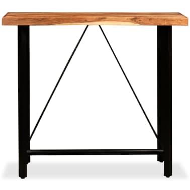 """vidaXL Bar Table Solid Sheesham Wood 47.2""""x23.6""""x42.1""""[2/11]"""