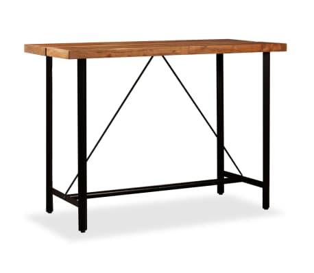 vidaXL Barový stůl z masivního sheeshamového dřeva 150 x 70 x 107 cm[11/13]