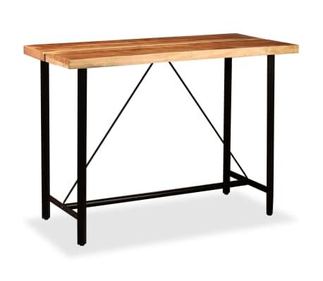 vidaXL Barový stůl z masivního sheeshamového dřeva 150 x 70 x 107 cm[12/13]