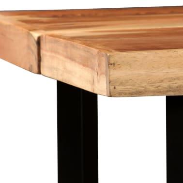 vidaXL Barový stůl z masivního sheeshamového dřeva 150 x 70 x 107 cm[4/13]
