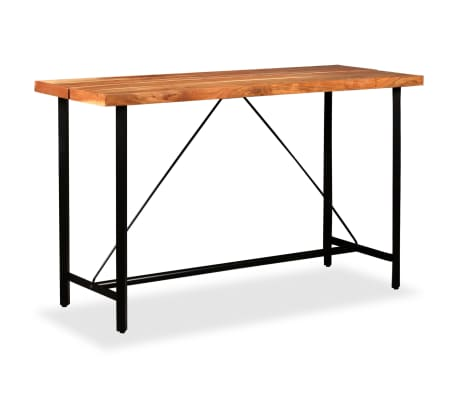 vidaXL Table de bar Bois massif de Sesham 180 x 70 x 107 cm[1/14]