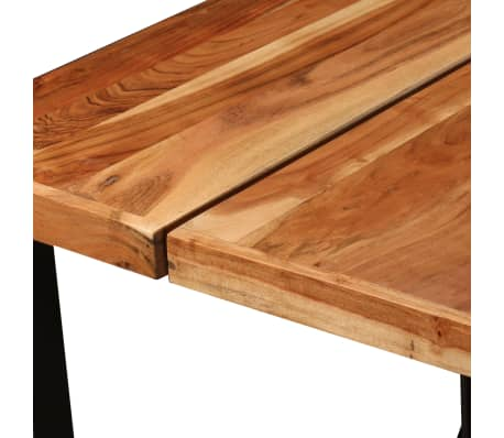 vidaXL Table de bar Bois massif de Sesham 180 x 70 x 107 cm[3/14]