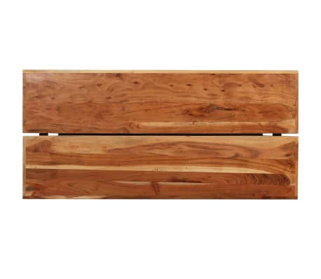 vidaXL Table de bar Bois massif de Sesham 180 x 70 x 107 cm[4/14]