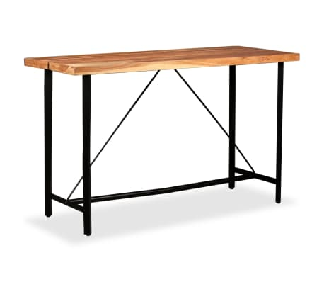 vidaXL Table de bar Bois massif de Sesham 180 x 70 x 107 cm[8/14]