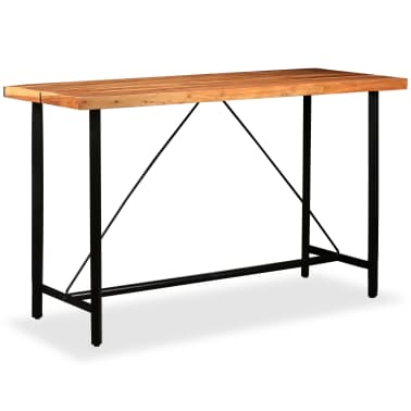 vidaXL Table de bar Bois massif de Sesham 180 x 70 x 107 cm[11/14]