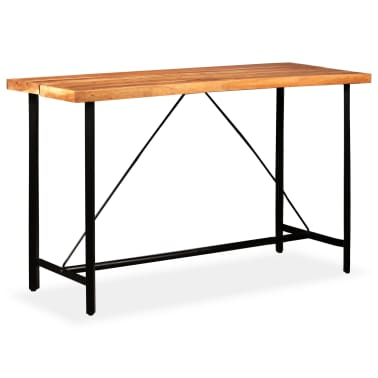 vidaXL Table de bar Bois massif de Sesham 180 x 70 x 107 cm[12/14]