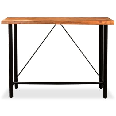 vidaXL Table de bar Bois massif de Sesham 180 x 70 x 107 cm[13/14]
