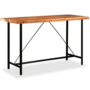 vidaXL Table de bar Bois massif de Sesham 180 x 70 x 107 cm[7/14]