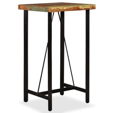 """vidaXL Bar Table Solid Reclaimed Wood 23.6""""x23.6""""x42.1""""[1/11]"""
