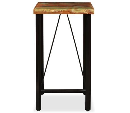 """vidaXL Bar Table Solid Reclaimed Wood 23.6""""x23.6""""x42.1""""[2/11]"""