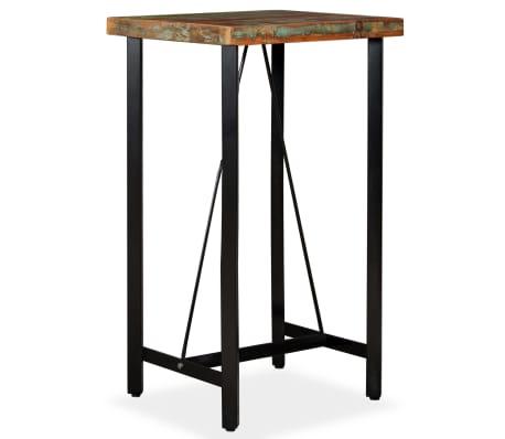 """vidaXL Bar Table Solid Reclaimed Wood 23.6""""x23.6""""x42.1""""[8/11]"""