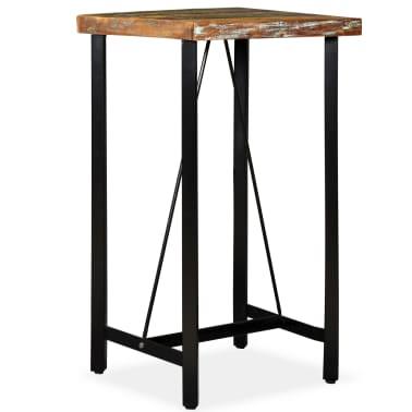 """vidaXL Bar Table Solid Reclaimed Wood 23.6""""x23.6""""x42.1""""[7/11]"""