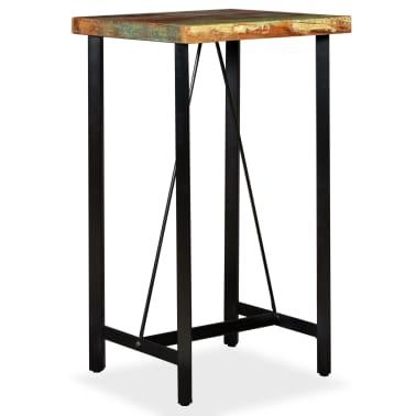 """vidaXL Bar Table Solid Reclaimed Wood 23.6""""x23.6""""x42.1""""[9/11]"""