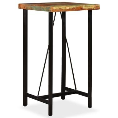 """vidaXL Bar Table Solid Reclaimed Wood 23.6""""x23.6""""x42.1""""[10/11]"""