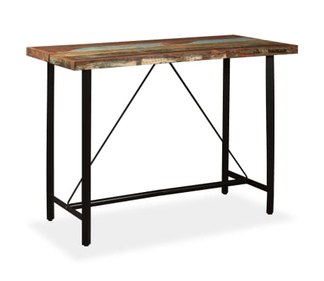"vidaXL Bar Table Solid Reclaimed Wood 59""x27.6""x42.1""[1/13]"