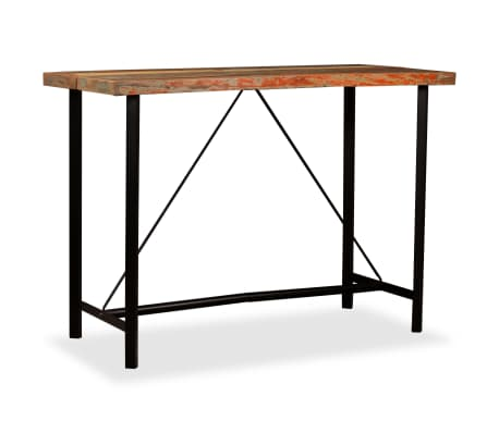 "vidaXL Bar Table Solid Reclaimed Wood 59""x27.6""x42.1""[9/13]"