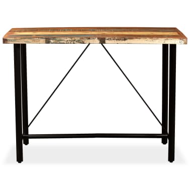 "vidaXL Bar Table Solid Reclaimed Wood 59""x27.6""x42.1""[2/13]"
