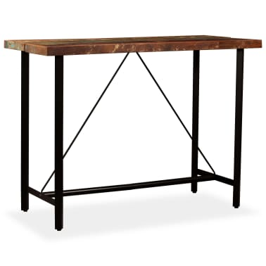 "vidaXL Bar Table Solid Reclaimed Wood 59""x27.6""x42.1""[11/13]"