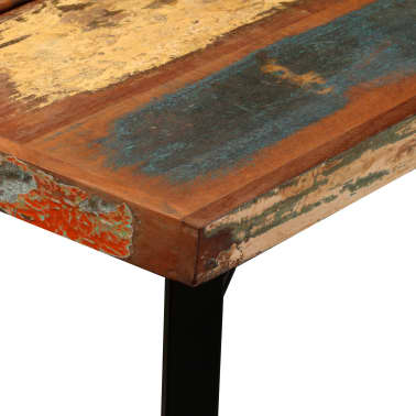 "vidaXL Bar Table Solid Reclaimed Wood 59""x27.6""x42.1""[5/13]"