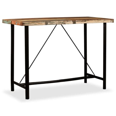 "vidaXL Bar Table Solid Reclaimed Wood 59""x27.6""x42.1""[10/13]"