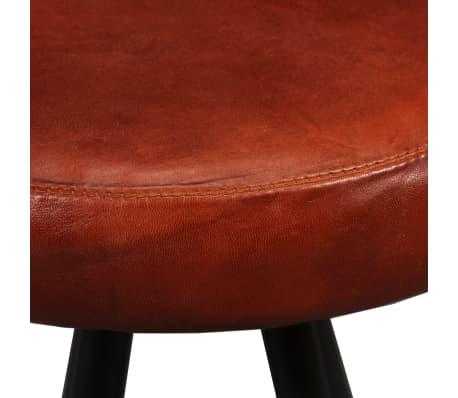 vidaXL Bar Stools 4 pcs Real Leather[5/15]