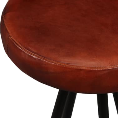 vidaXL Bar Stools 4 pcs Real Leather[6/15]