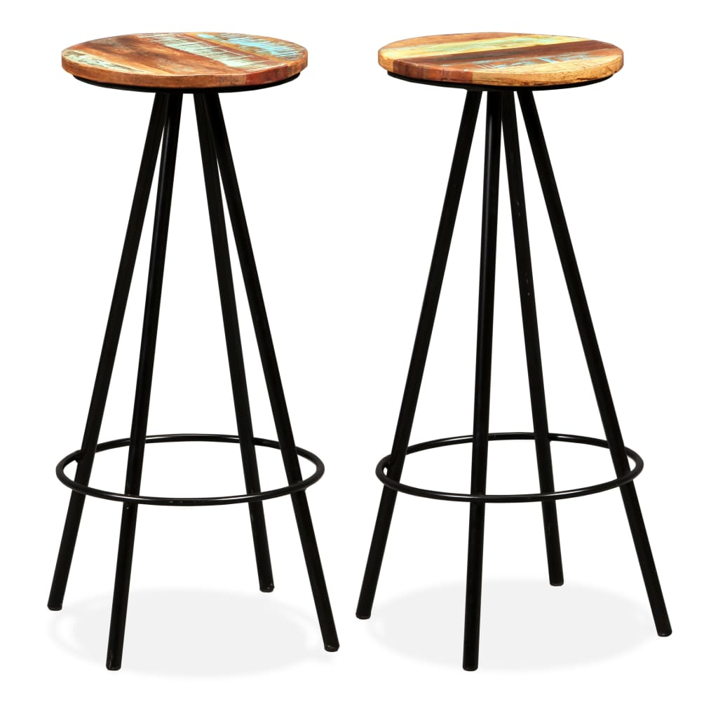 These wooden bar stools have an industrial look and will make a distinctive addition to any home, bar or restaurant.