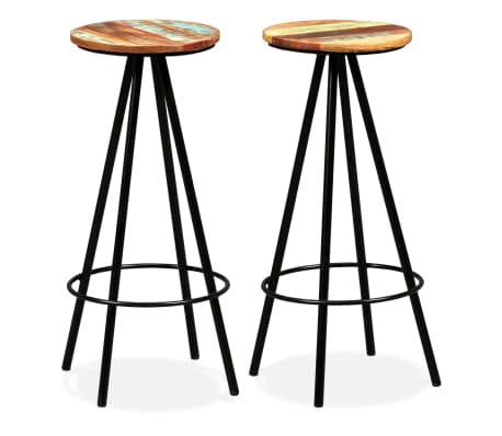 vidaXL Bar Stools 2 pcs Solid Reclaimed Wood[1/16]