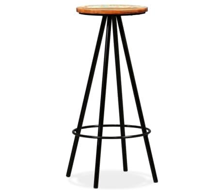Dettagli su vidaXL 2x Sgabelli da Bar in Legno Massello di Recupero e Acciaio Sedie Cucina