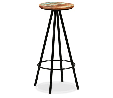 vidaXL Bar Stools 2 pcs Solid Reclaimed Wood[12/16]