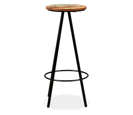 vidaXL Bar Stools 2 pcs Solid Reclaimed Wood[3/16]
