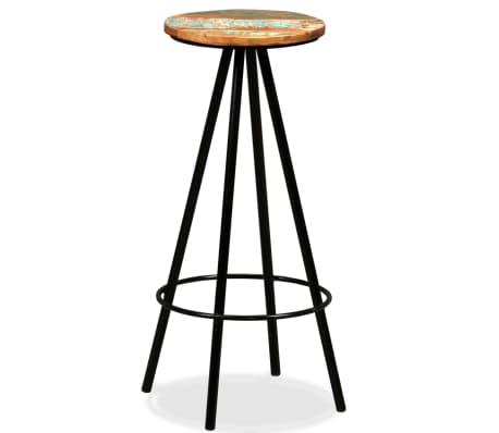 vidaXL Bar Stools 2 pcs Solid Reclaimed Wood[9/16]