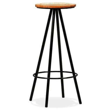vidaXL Bar Stools 2 pcs Solid Reclaimed Wood[2/16]