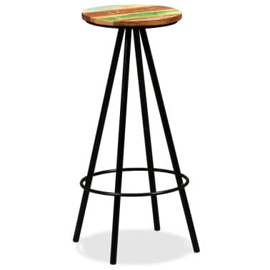 vidaXL Bar Stools 2 pcs Solid Reclaimed Wood[11/16]